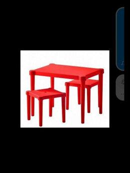 Столы и столики - Набор детский ИКЕА стол и 2 стульчика, 0