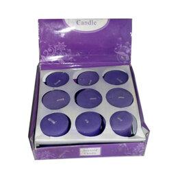Декоративные свечи - Набор девять Фиолетовых свечей 4,8см, 0