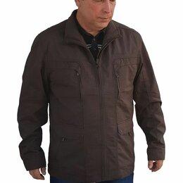 Куртки - Мужская куртка большого размера из натуральной ткани., 0