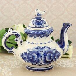 Заварочные чайники - Чайник «Воробей», гжель, 0