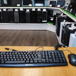 Комплекты клавиатур и мышей - Комплект (клавиатура + мышь) - CANYON, 0