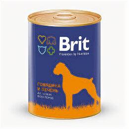 Корма  - BRIT PREMIUM RED BEEF&LIVER консервы д/собак говядина/печень, 850г , 0