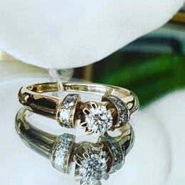 Кольца и перстни - Золотое кольцо  с бриллиантом, 0