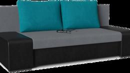 Мебель для кухни - Диван прямой Монако (Сан Ремо) Black Grey Azur, 0