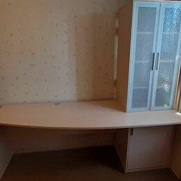 Компьютерные и письменные столы - Письменный стол с надстройкой 210см, 0