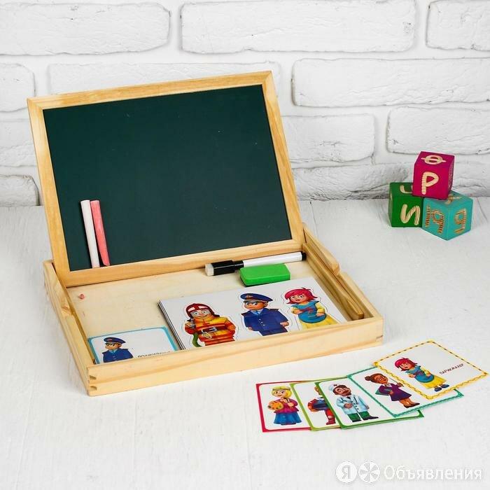 Конструктор магнитный «Профессии» в деревянной коробке + набор игровых карточ... по цене 1180₽ - Конструкторы, фото 0