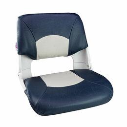 Походная мебель - Кресло складное мягкое SKIPPER, цвет синий/белый, 0