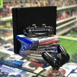 Игровые приставки - PlayStation 4 Slim c 2 геймпадами и игрой на выбор, 0