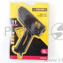 """Клеевые пистолеты - Пистолет Stayer """"profi"""" 0680-11_z01 термоклеящий, электрический, 40Вт/220В, 11мм, 0"""