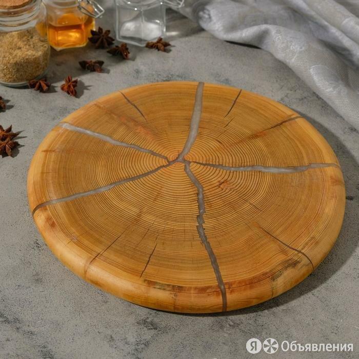 Спил лиственницы, эпоксидная смола, большой, диаметр 30 см по цене 2501₽ - Пиломатериалы, фото 0