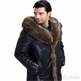 Костюмы - Куртка кожаная мужская зимняя, 0