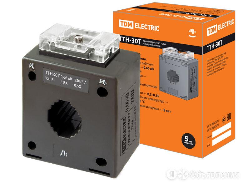 Трансформатор тока ТТН-30T 250/5А 5ВА класс точности 0,5S (РФ, МПИ - 16 лет) TDM по цене 974₽ - Трансформаторы, фото 0