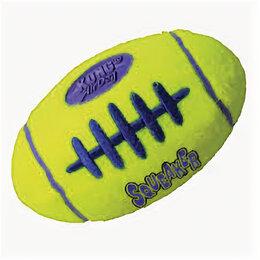 Аксессуары для амуниции и дрессировки  - KONG игрушка для собак AIR Регби малая 9 см , 0