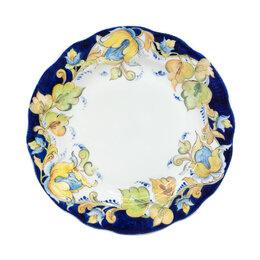 Декоративная посуда - Юлиана Косихина Гжельский фарфоровый завод Тарелка пирожковая Дубок 175 мм в ..., 0