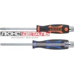 Отвертки - LICOTA ASD6610055 Licota - Отвертка усиленная цельнометаллическая SL5.5  100 мм , 0