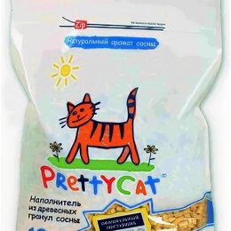 Наполнители для туалетов - PRETTYCAT наполнитель древесный для кошачьих туалетов WOOD GRANULES 4 кг, 0