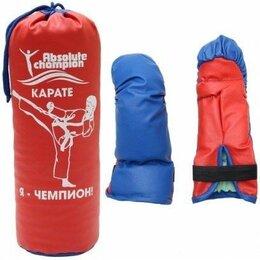 Перчатки для единоборств - Детский набор перчатки и груша абсолют чемпион, 0