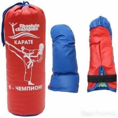Детский набор перчатки и груша абсолют чемпион по цене 1100₽ - Перчатки для единоборств, фото 0