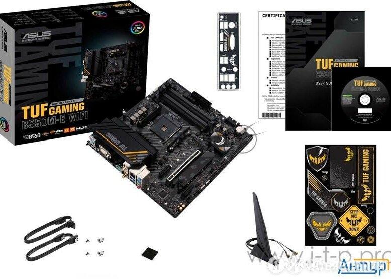 Материнская плата Asus Tuf Gaming B550m-e Wifi,  Socket Am4, B550, 4*ddr4, Hd... по цене 13735₽ - Материнские платы, фото 0