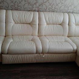 Диваны и кушетки -  диван кожаный угловой, 0