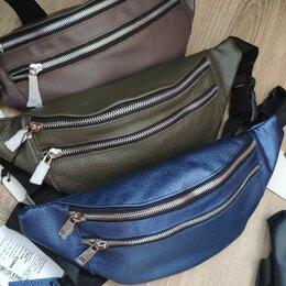 Сумки - Поясные сумки из натуральной кожи, 0