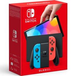 Аксессуары - Nintendo Игровая приставка Nintendo Switch OLED-Модель (неоновый синий / неон..., 0