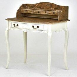 Компьютерные и письменные столы - Стол бюро Marcel & Chateau H841 (H03+M01) из массива, прованс, 0