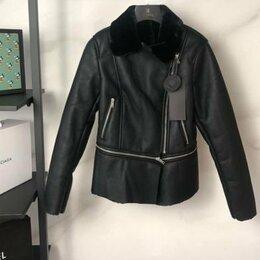 Куртки - Куртка кожзам женская зимняя, 0