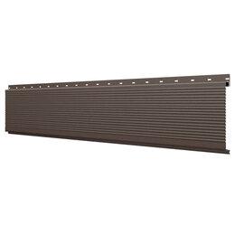 Стеновые панели - Линеарная потолочно-стеновая панель РИФЛЕНАЯ RAL8017 Шоколад Стальной Бархат, 0