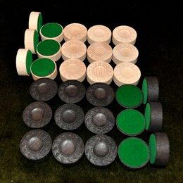 Настольные игры - Набор фишек для нард и шашек Люкс 3 см., 0