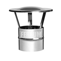 Дымоходы - Зонт-К (430/0,5 мм) D 115 Ferrum, 0