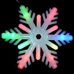 Автосервис и подбор автомобиля - Растяжка Снежинка матовая 18см светящаяся 240см 51, 0