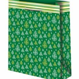 Подарочная упаковка - Пакет подарочный Новогодний 33х45 см, зеленый, 0