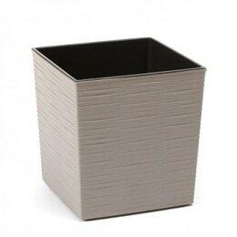 Комнатные растения - Кашпо пластиковое ЭКО Юкка серый, 0