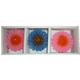 Декоративные свечи - Набор Свеча в виде цветка (6см три штуки) 3204, 0