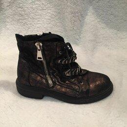 Ботинки - Ботинки женские байкерские, 0