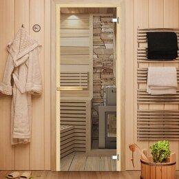 Межкомнатные двери - Стеклянная дверь для сауны по вашим размерам, 0