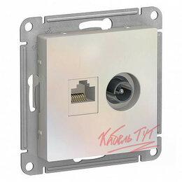 Электроустановочные изделия - ALASDESIGN РОЗЕТКА двойная ТВ + компьютерная RJ45,, 0