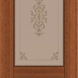 Межкомнатные двери - Дверь шпон дуба со стеклом, 0