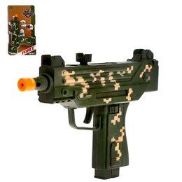 Игрушечное оружие и бластеры - Автомат «УЗИ», световые и звуковые эффекты, работает от батареек, МИКС, 0