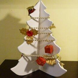 Новогодний декор и аксессуары - Разборная елочка из дерева, белая, 0