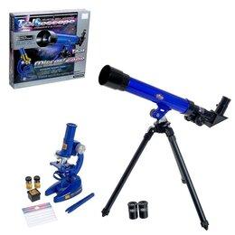Детские микроскопы и телескопы - Набор телескоп и микроскоп 'Юный исследователь', 0