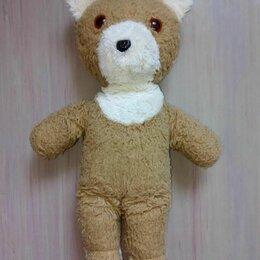 Мягкие игрушки - Мягкая игрушка – коричневый мишка, СССР (винтаж), 0