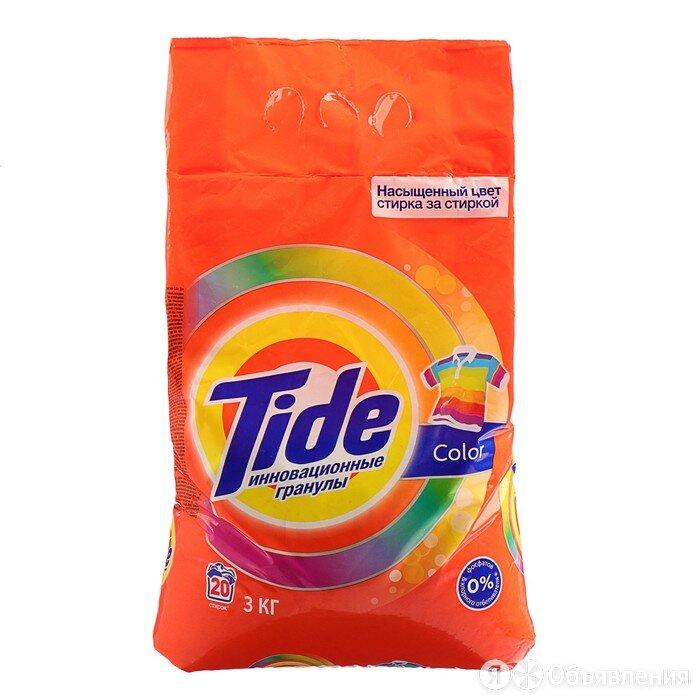 Порошок стиральный Tide Автомат Color, 3 кг по цене 911₽ - Бытовая химия, фото 0