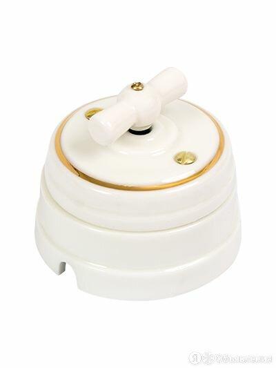 Выключатель поворотный на 4 положения, цвет - золото на белом по цене 1800₽ - Электроустановочные изделия, фото 0