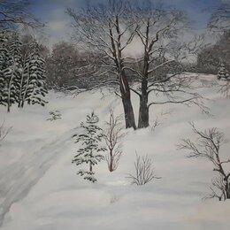Картины, постеры, гобелены, панно - зимний лес, 0