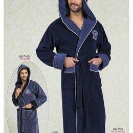 Домашняя одежда -  Мужской халат с капюшоном Nusa Mayer 2XL темно-серый. Турция , 0