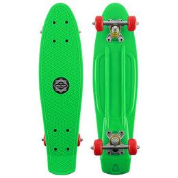 Скейтборды и лонгборды - Скейтборд M-450, размер 56x14 см, колеса PVC d=50 мм зеленый , 0