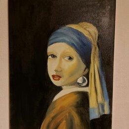 Картины, постеры, гобелены, панно - Картина девушка с жемчужной сережкой, 0