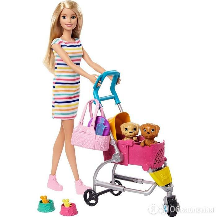 Кукла Барби с щенком в коляске по цене 4878₽ - Куклы и пупсы, фото 0